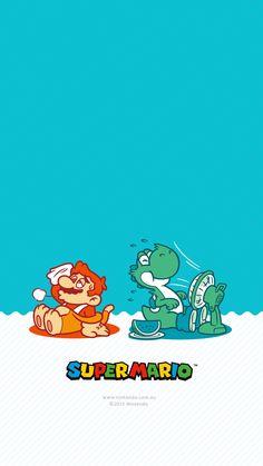 Mario and Yoshi take a break Super Mario World, Super Mario Art, Cartoon Wallpaper, Iphone Wallpaper, Yoshi, Deadpool Pikachu, Nintendo Characters, Super Mario Brothers, Mario And Luigi