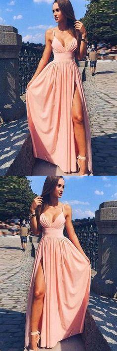 V Neck Prom Dress, P