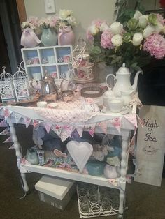 Vintage tea trolley, via Flickr. The white tea cart deco for sure RRB for my SHOP