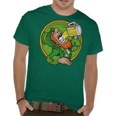 Beer Drinking Leprechaun St Patrick's Day T-shirt