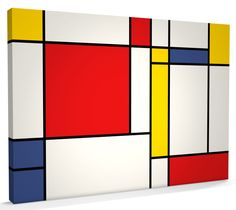 We love this Piet Mondrian-inspired art; kids can help create these simple, yet stunning, shapes. Piet Mondrian, Mondrian Kunst, Art Deco Design, Wall Design, Salon Art Deco, Geometric Shapes Art, Mid Century Art, Mural Painting, Paint Designs
