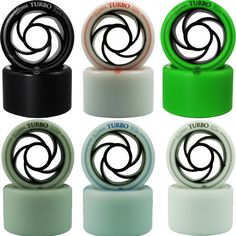Roller Bones Turbo Speed Skate Wheels 1 Set of 8 #RollerBones
