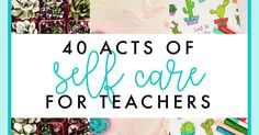 As teachers, we spend all day nurturing and taking care of our students, but sometimes we neglect ourselves! Here are 40 ways to practice self-care, starting with the least time-consuming and least expensive ideas. Teacher Hacks, Teacher Gifts, Teacher Stuff, Teacher Tired, Teacher Organization, Teacher Morale, Staff Morale, Spanish Basics, Spanish Class