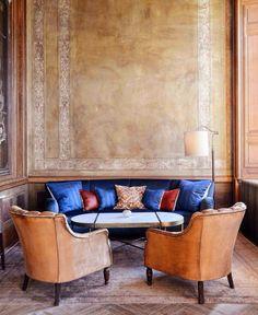 A lounge at Soho House Istanbul.