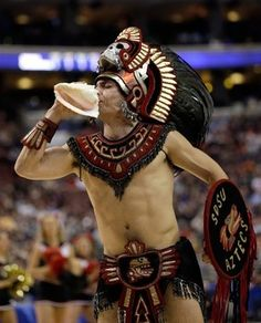 "Ten years ago, San Diego State University was forced to retire their then mascot, ""Monty Montezuma,"" for a more socially acceptable version. Now, SDSU refers to its mascot as the Aztec Warrior– a name considered to be historically more appropriate. Instances seemingly as trivial as a school's mascot is a step in the right direction to diminish the amount of imbalanced association and social stigmas."