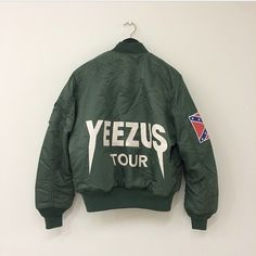 Yeezus Tour Bomber Jacket Worn once or twice. Yeezus Tour Jacket, Kanye West Yeezus, Urban Fashion, Mens Fashion, High Fashion, Grunge, Hood By Air, Vans, Moda Masculina
