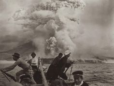 Eruption of Mt. Sakurajima Japan (1914) [2048 x 1551]. wallpaper/ background for iPad mini/ air/ 2 / pro/ laptop @dquocbuu