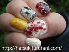 The work of nail art by hatsuki furutani, a Tokyo based manicurist http://hatsukifurutani.com/  http://instagram.com/hatsukifurutani# http://ams-ebisu-place.blogspot.jp/ http://hatsukifurutani.tumblr.com/  #nail, #nails, #nailart, #naildesign, #beauty, #makeup, #fashion, #art, #nailaddict, #polish, #manicure, #manicurist, #creepy, #weired, #carp