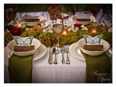 Luxury Meets Nature Reception Tablescape