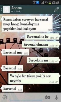 #barsenal #barcelona #arsenal #arsenik #anne #wzap #wzup #whatsapp #xD #Komik #ya #la #:P