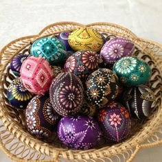 Traditional Lithuanian Easter eggs