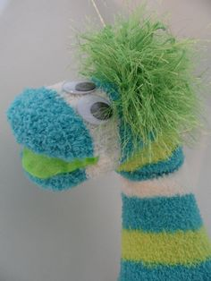 Waywick-Sock Hand Puppet for Adoption by Ruhammie on Etsy Puppet Crafts, Sock Crafts, Sewing Crafts, Diy And Crafts, Crafts For Kids, Horse Crafts, Sock Puppets, Hand Puppets, Finger Puppets
