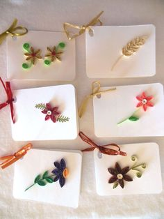 Blank Quilled Gift Tags Set of 6