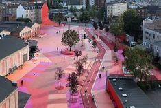Torniamo a parlare di progetti, il committente è il governo danese, i vincitori del concorso sono lo studio di landscape architecture Topotek1, il collettivo Superflex, fondato nel '93, con la coll…