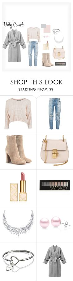 """""""Daily Casual"""" by szepanita on Polyvore featuring Levi's, Gianvito Rossi, Chloé, Tory Burch, Forever 21 and Suzy Levian"""