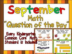 Kindergarten Celebration: September Common Core Math Question of the Day!!
