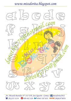 Moldes, Videos Tutoriales y Revistas Gratis de Foami, Goma Eva y microporoso, Compartir es nuestro lema y vayamos por la vida haciendo el Bien Alphabet Art, Alphabet And Numbers, Lettering Design, Hand Lettering, Diy And Crafts, Paper Crafts, Stencils, Sewing Projects, Clip Art