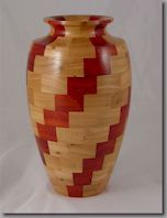 Plans and Construction Techniques for segmented spiral vase. Plans cost $11