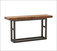 """Entry way table -- PB Griffin Reclaimed Wood Console Table (68"""" wide x 19"""" deep x 36"""" high)"""