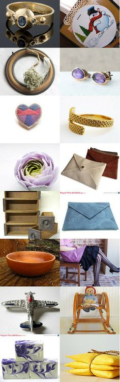 Gold And Lavender by Pedrick on Etsy--Pinned with TreasuryPin.com