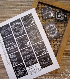 The Scrap Shoppe: Printable Christmas Tags (2 Sets) by alambra