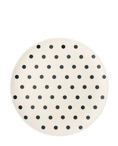 Bamboo Melamin Teller Black Dot