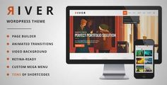 Download and review of River - Retina Multi-Purpose WordPress Theme, one of the best Themeforest Creatives themes