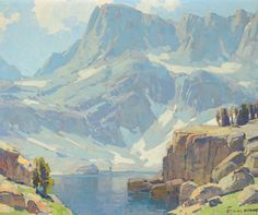 EDGAR PAYNE High Sierra Lake Oil on Canvas 28″ x 34″