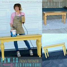 Painting Wood Furniture {Pinners Class PART ONE}