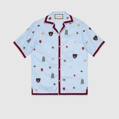 9ce74777ba58 Embroidered cotton bowling shirt