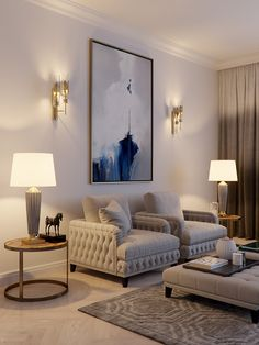Bedroom Lamp 2020 – How can I improve my bedroom lighting - Home Style Classy Living Room, Home Living Room, Living Room Decor, Home Room Design, Home Interior Design, Living Room Designs, Room Wall Decor, Home Decor Bedroom, Sofa Bed Design