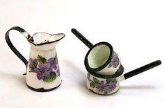 how to: faux enamel kitchenware