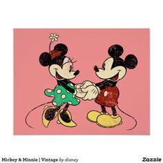 Mickey & Minnie | Vintage Poster