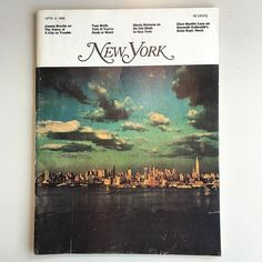 Does not get any better than this: just received vol. 1 No. 1 of @nymag 1968 / editor #claysfelker / artdirector @miltonglaserinc  / #tomwolfe / 40cents