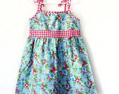 Girls swing dress size 2 MADE TO ORDER