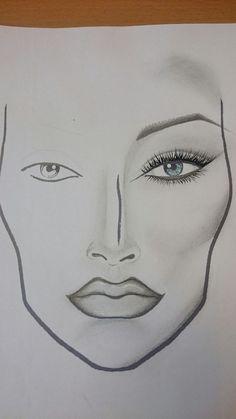 Hand Makeup, Makeup Art, Face Charts, Make Up, Mac, Tips, Learn Drawing, Face Drawings, Eyebrow