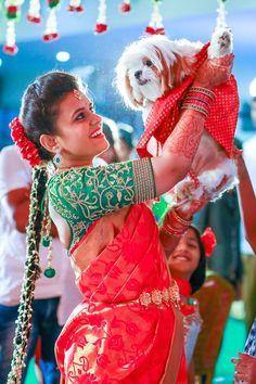 Tamil bride Telugu bride Bridal saree Kanchivaram saree Uppada Saree Diamond Jewellery Vaddanam Bridal Blouse