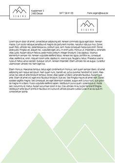 Digitaal ontwerp briefpapier