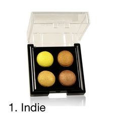 KleanColor presents Color Playlist Baked Shadow Quad in portable compact that is makeup bag friendly. Each colors is artistically designed for wet/dry applicati