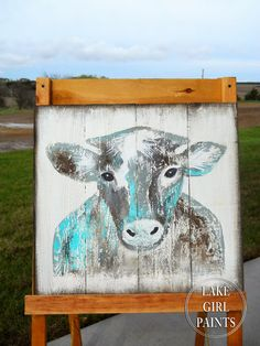 Lake Girl Paints: Painting Cow Art