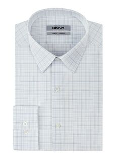 White Plaid Dress Shirt by DKNY. Buy for $69 from DKNY