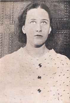 Olga Benário, esposa de Prestes, fotaografia tirada na polícia do Rio de Janeiro.  1936
