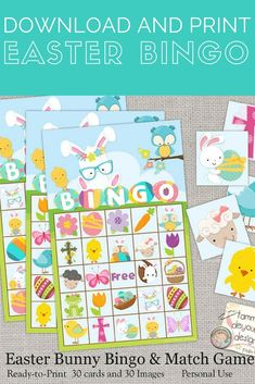 Super fun game to play for the whole family during easter | Easter Game | Easter Printable | Family Activity | Family Easter | Bingo Game | Printable Bingo | Bingo Cards | #Easter #game #bingo #ad (Affiliatelink - I will earn a small commission if you click on this link - no additional cost for you)