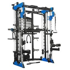 Force USA Black Friday Monster Commercial All-In-One Strength Training System full front left. Chin Up Station, Pull Up Station, Dip Station, Smith Machine, Power Rack, Endurance Training, Strength Training, Full Body Training, Muscle Training