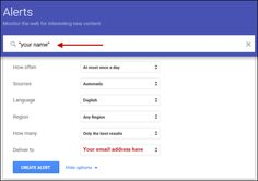 Using Google Alerts for job search