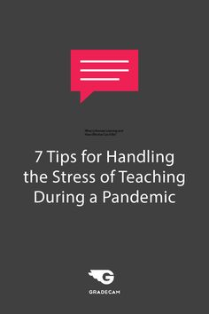 Whether schools return to in-classroom instruction, hybrid, or a remote learning set up, here are seven tips that can help educators handle the stress of teaching during a pandemic. Superhero Teacher, Student Portal, Teaching Skills, Teacher Inspiration, Formative Assessment, Learning Objectives, Teacher Hacks, Stressed Out, School Fun