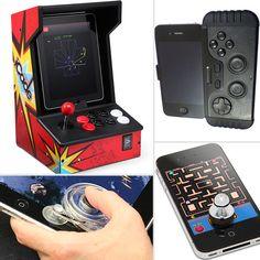 Arcade or handheld controls look fun, skip the onscreen suction sticks.