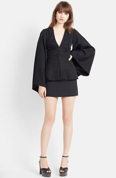 Saint Laurent V-Neck Kimono Blouse available at #Nordstrom