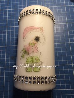 Digi stamp on a candle,  more on my blog :) Bestie img 392 Card Tags, Besties, Stamps, About Me Blog, Candles, Seals, Stamp, Stamping, Candy