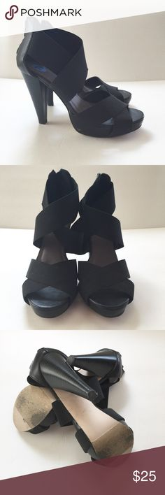 "MADDEN GIRL ""MANOR"" SANDALS Good used condition. 4.5 inch heel with platform. Madden Girl Shoes Sandals"